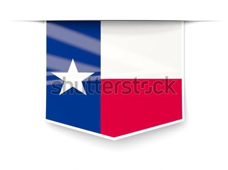 Square icon with flag of chile Stock photo © MikhailMishchenko