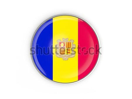 Round button with flag of andorra Stock photo © MikhailMishchenko