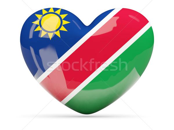 сердце икона флаг Намибия изолированный Сток-фото © MikhailMishchenko