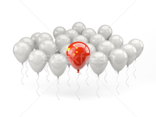 Air balloons with flag of china Stock photo © MikhailMishchenko