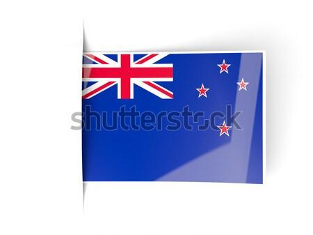 Tér matrica zászló Új-Zéland izolált fehér Stock fotó © MikhailMishchenko