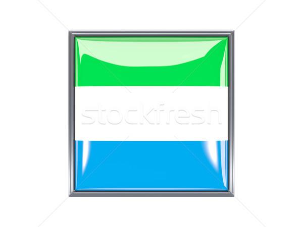 Square icon with flag of sierra leone Stock photo © MikhailMishchenko