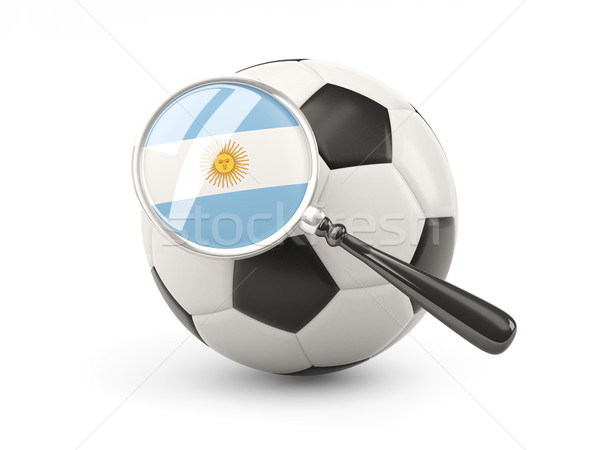 футбола флаг Аргентина изолированный белый Сток-фото © MikhailMishchenko