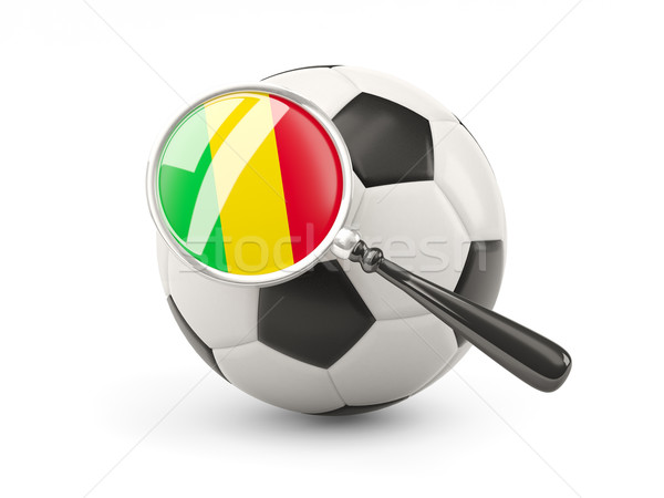 Football with magnified flag of mali Stock photo © MikhailMishchenko