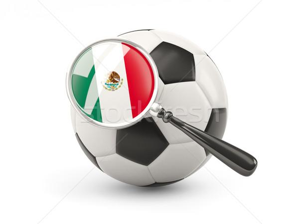 サッカー 拡大された フラグ メキシコ 孤立した 白 ストックフォト © MikhailMishchenko