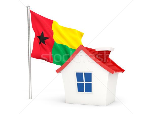 Huis vlag Guinea geïsoleerd witte home Stockfoto © MikhailMishchenko
