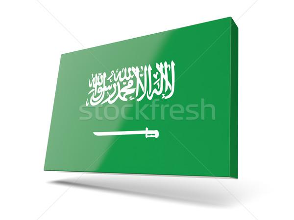 広場 アイコン フラグ サウジアラビア 孤立した 白 ストックフォト © MikhailMishchenko
