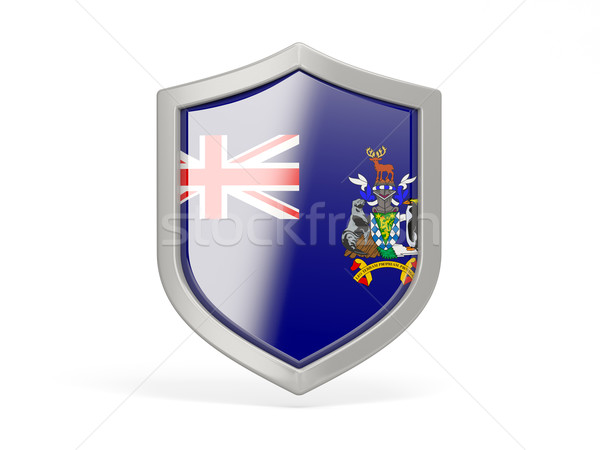 Shield icon with flag of south georgia and the south sandwich is Stock photo © MikhailMishchenko