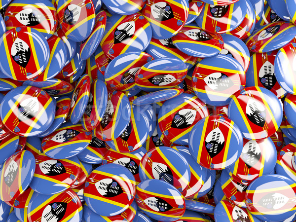 Vlag Swaziland wereld achtergrond reizen land Stockfoto © MikhailMishchenko