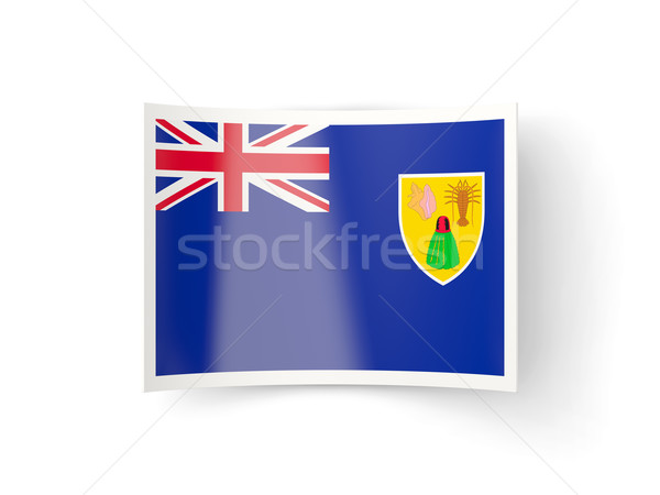 Bent icon with flag of turks and caicos islands Stock photo © MikhailMishchenko