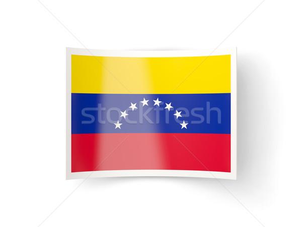 ícone bandeira Venezuela isolado branco país Foto stock © MikhailMishchenko