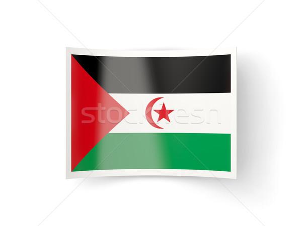 Ikon bayrak batı sahara yalıtılmış beyaz Stok fotoğraf © MikhailMishchenko