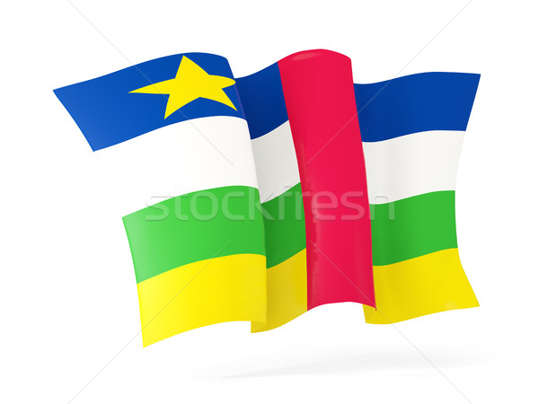 Waving flag of central african republic. 3D illustration Stock photo © MikhailMishchenko