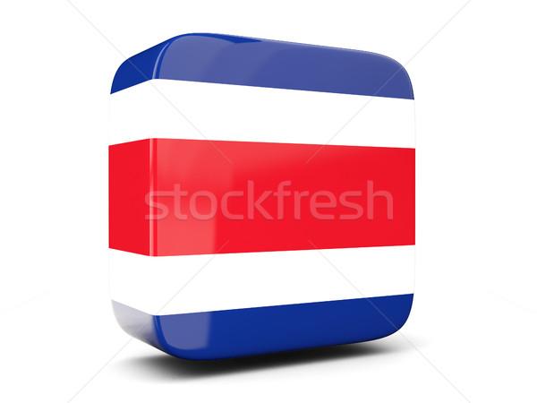 Tér ikon zászló Costa Rica 3d illusztráció izolált Stock fotó © MikhailMishchenko