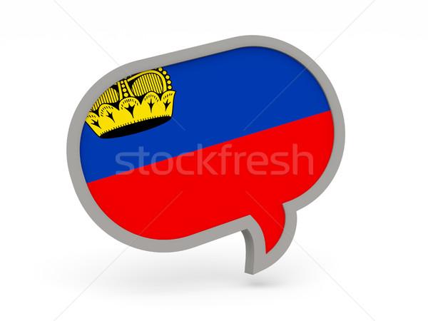 Chat icon with flag of liechtenstein Stock photo © MikhailMishchenko