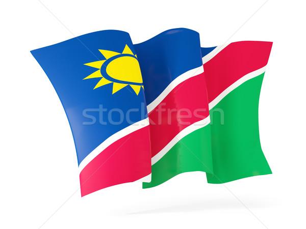 Bayrak Namibya 3d illustration yalıtılmış beyaz Stok fotoğraf © MikhailMishchenko