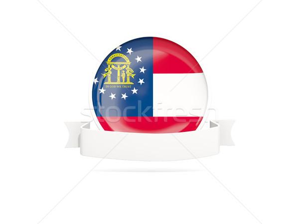 флаг баннер икона изолированный белый 3d иллюстрации Сток-фото © MikhailMishchenko
