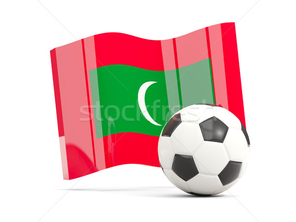 Foto stock: Futebol · bandeira · isolado · branco · ilustração · 3d