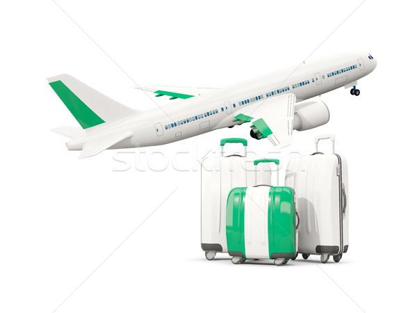 Bagaj bayrak üç çanta uçak yalıtılmış Stok fotoğraf © MikhailMishchenko