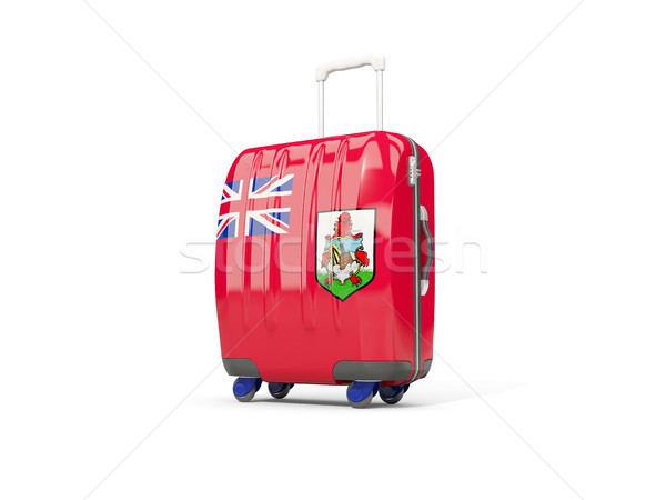 Luggage with flag of bermuda. Suitcase isolated on white Stock photo © MikhailMishchenko