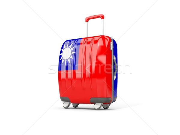 Bagage vlag republiek koffer geïsoleerd witte Stockfoto © MikhailMishchenko