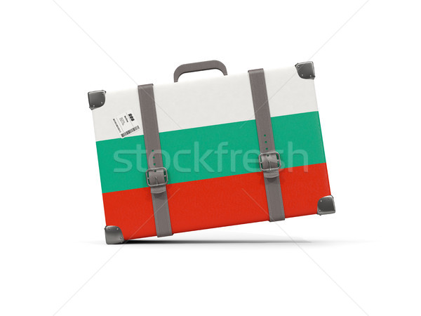 Bagage vlag Bulgarije koffer geïsoleerd witte Stockfoto © MikhailMishchenko