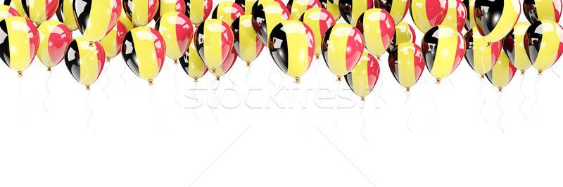 Balões quadro bandeira Bélgica isolado branco Foto stock © MikhailMishchenko