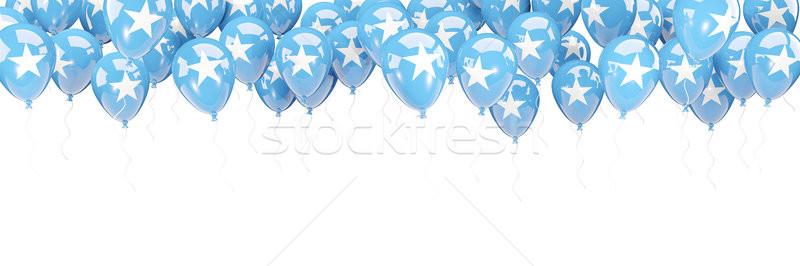 Ballons cadre pavillon Somalie isolé blanche Photo stock © MikhailMishchenko