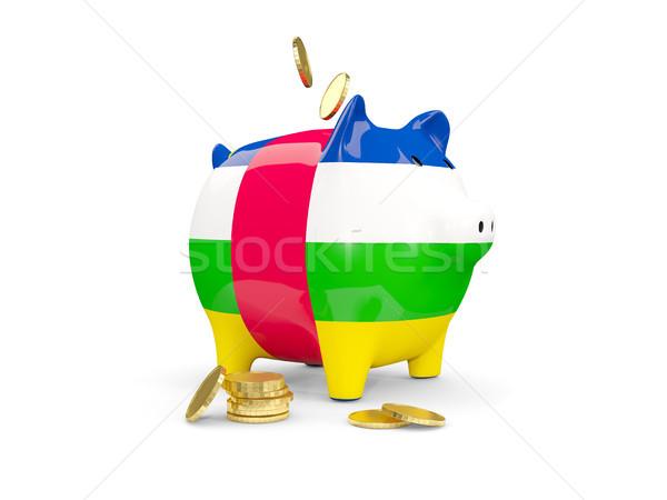Gordura piggy bank central africano república dinheiro Foto stock © MikhailMishchenko