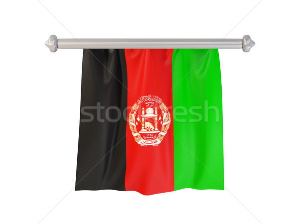 Pennant with flag of afghanistan Stock photo © MikhailMishchenko