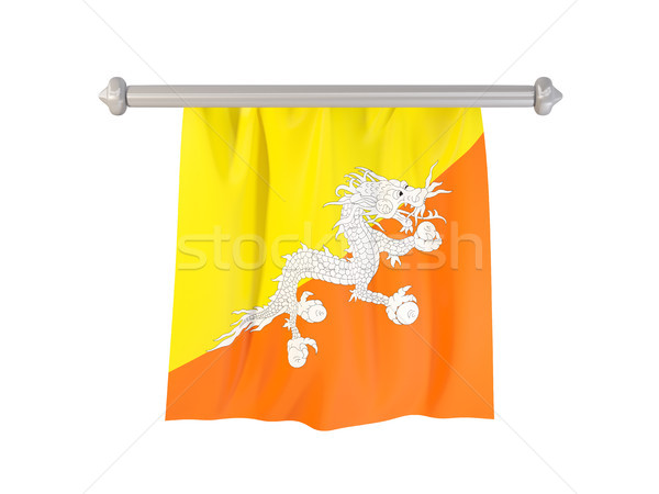 Pennant with flag of bhutan Stock photo © MikhailMishchenko