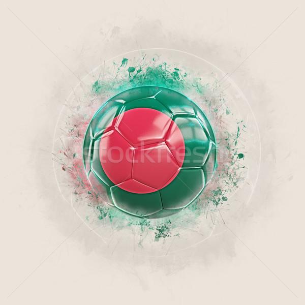 Grunge futball zászló Banglades 3d illusztráció világ Stock fotó © MikhailMishchenko