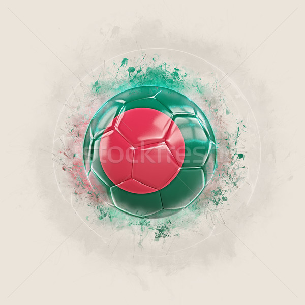 Grunge futebol bandeira Bangladesh ilustração 3d mundo Foto stock © MikhailMishchenko