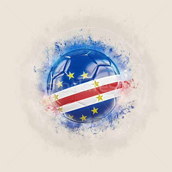 Grunge football with flag of cape verde Stock photo © MikhailMishchenko