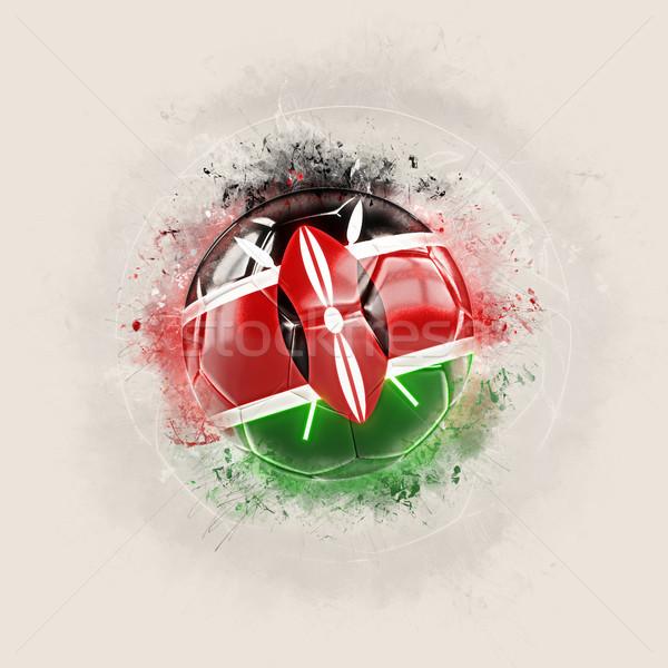 Grunge voetbal vlag Kenia 3d illustration wereld Stockfoto © MikhailMishchenko