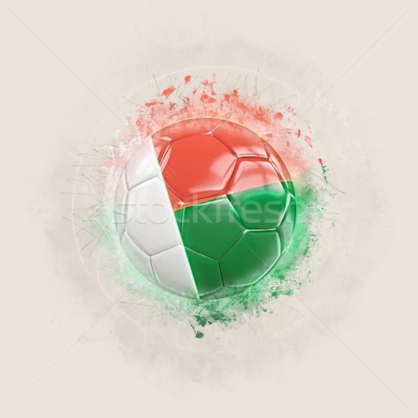 グランジ サッカー フラグ マダガスカル 3次元の図 世界 ストックフォト © MikhailMishchenko