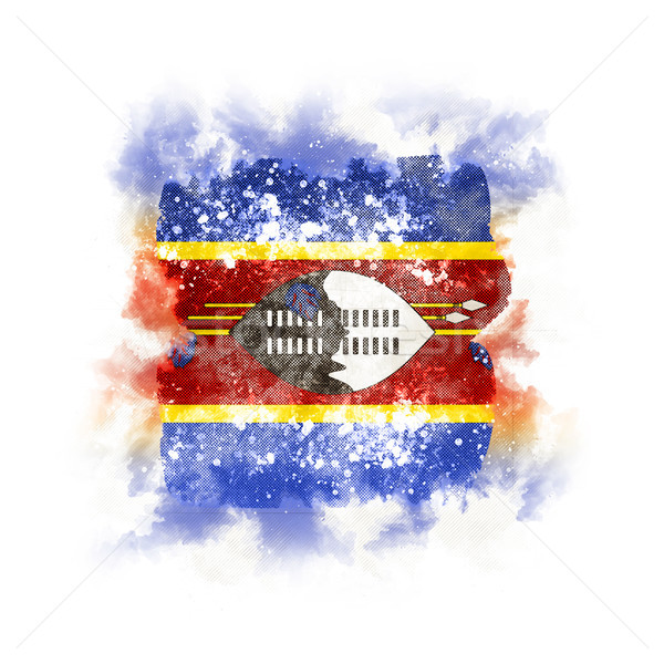 Square grunge flag of swaziland Stock photo © MikhailMishchenko