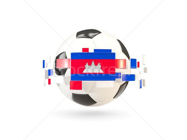 Futebol linha bandeiras bandeira Camboja flutuante Foto stock © MikhailMishchenko