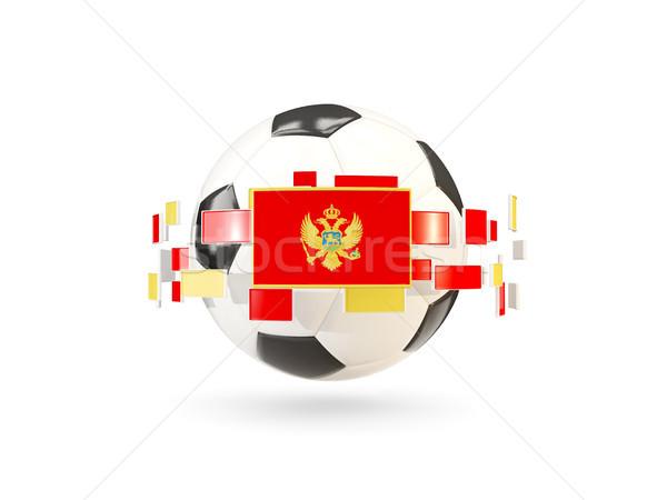 футбольным мячом линия флагами флаг Черногория Сток-фото © MikhailMishchenko