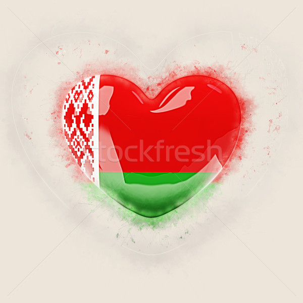 Heart with flag of belarus Stock photo © MikhailMishchenko