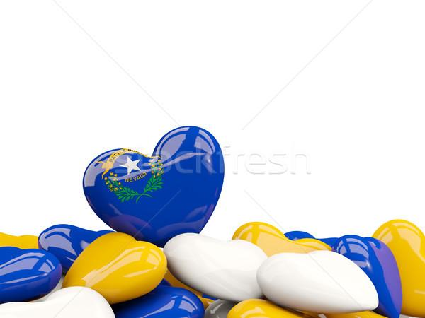 Stock fotó: Szív · alakú · Nevada · zászló · Egyesült · Államok · helyi