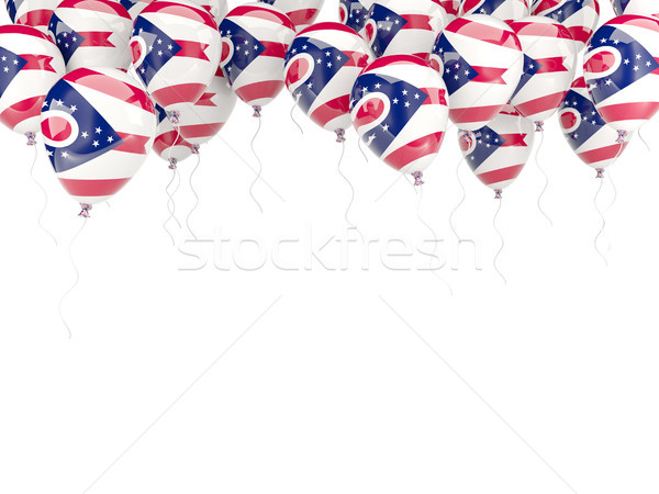 Stock photo: Balloons frame with flag of ohio. United states local flags