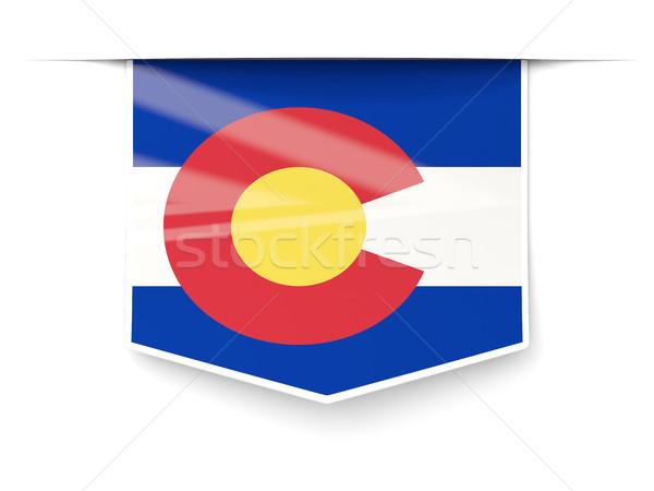 Colorado bandera cuadrados etiqueta sombra Estados Unidos Foto stock © MikhailMishchenko