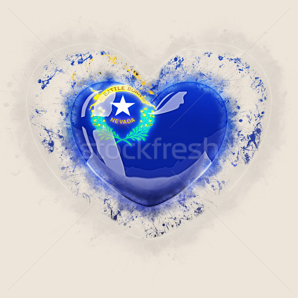 nevada state flag on a grunge heart. United states local flags Stock photo © MikhailMishchenko