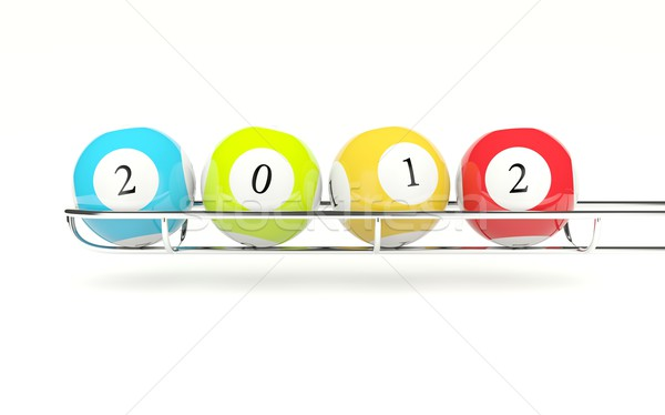 2012 lottery balls Stock photo © MikhailMishchenko