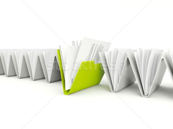 Zdjęcia stock: Rząd · inny · zielone · jeden · odizolowany