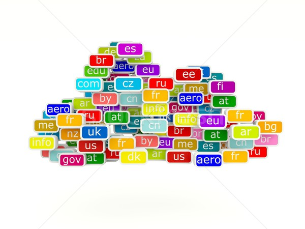 Domain name signs Stock photo © MikhailMishchenko
