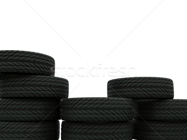 Pyramid of tires Stock photo © MikhailMishchenko