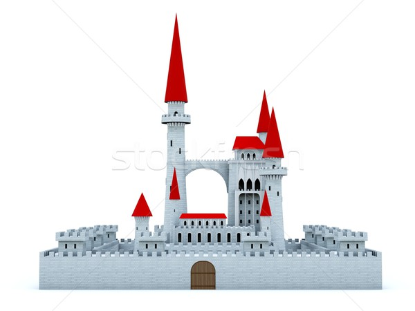 Castle with red roof Stock photo © MikhailMishchenko