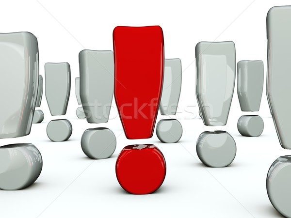 Red exclamation mark Stock photo © MikhailMishchenko